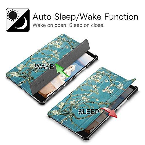 Fintie Hülle Case für Huawei Mediapad M5 8 Tablet - Ultra Dünn Superleicht SlimShell Ständer Case Cover Schutzhülle Auto Sleep/Wake Funktion für Huawei MediaPad M5 21,34 cm (8,4 Zoll), Mandelblüten - 2