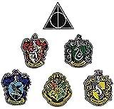 Set de 6 - Deluxe – Casas de Hogwarts + Las Reliquias de la Muerte