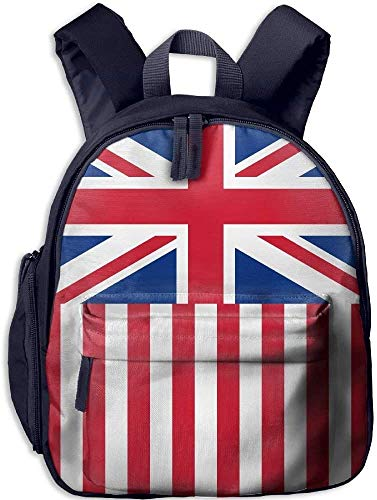Backpacks British America Flag Kid and Toddler Student Backpack School Bag Super Bookbag