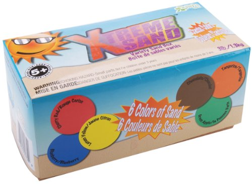 Xtreme Sand 3 Pound Box - 1/2 Pound Each Of 6 Classic Colors