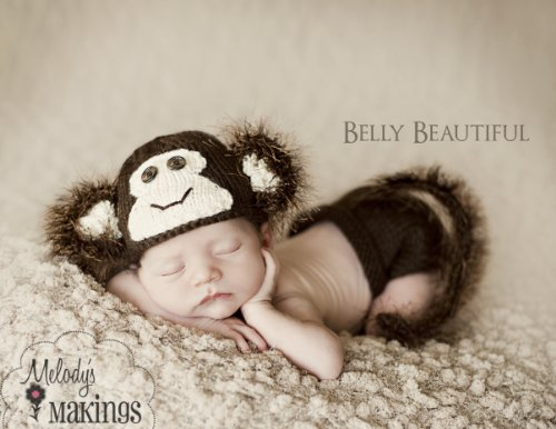 Monkey Hat and Diaper Cover Set Knitting Pattern