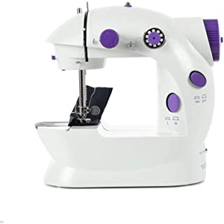 Mini Sewing Machine with Extension Table Upgraded Portable Two Threads Double Speed Double Switches Household Kids Beginners Travel Automatic Sewing Machine