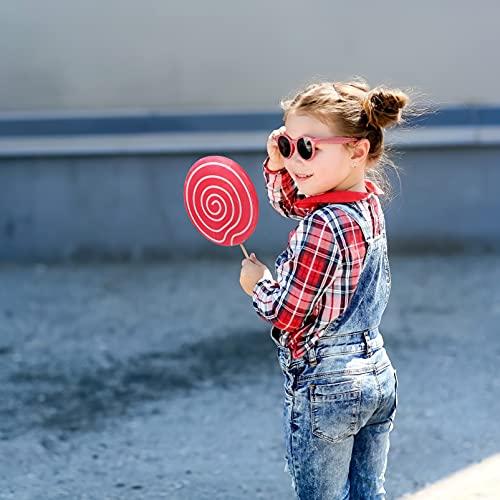 ABOOFAN Grandes Modelos de Simulación de Piruleta Tema de Comida Accesorios de Fotos Adornos de Piruleta Falsos Decoraciones de Fotografía para Niños