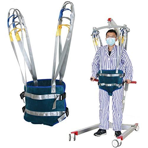 51c6cWSfVRL - XIAORANA Arnés para traslados, Arnés de Elevación de Paciente de Cuerpo Completo, para grúa de 4 Pinzas, Superacolchado, para Posicionamiento Y Elevación De La Cama, Enfermería (Dimension : Medium)