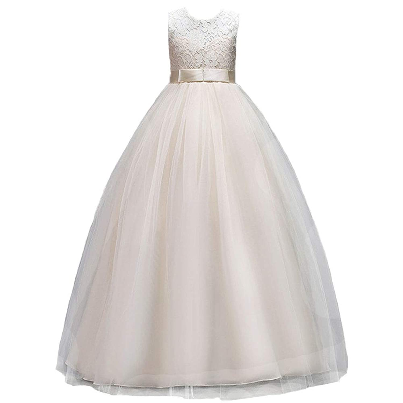 (フォーペンド)Forpend キッズドレス FP-0034 女の子 フォーマルワンピース 発表会 結婚式 パーティー 子供服 ドレス ロング 120 130 140 150 160cm (サイズ160cm, シャンパン)