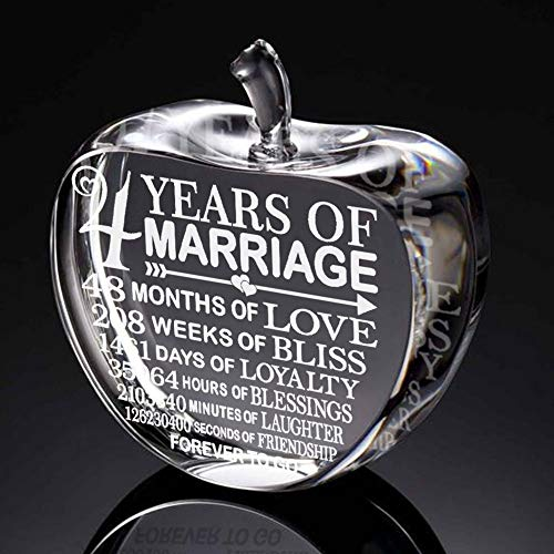 4th wedding anniversary gifts for him with fruit and flowers Paperweight and Keepsake