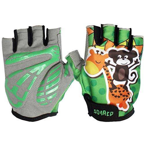 Gogokids Fietshandschoenen, voor kinderen, halve vingers, sporthandschoenen, voor jongens en meisjes, rolschoenen, racefiets, mountainbike, klimmen