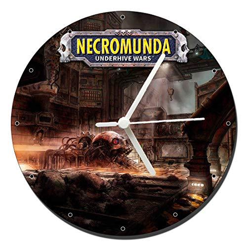 MasTazas Necromunda Underhive Wars Reloj de Pared Wall Clock 20cm