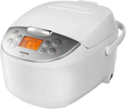 Toshiba TRCS01 Cooker 6 Cups Uncooked (3L) with Fuzzy Logic and One-Touch Cooking, Brown Rice, White Rice and Porridge