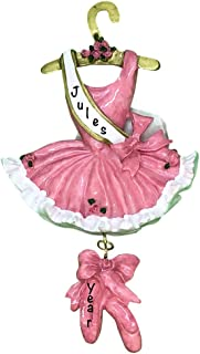 Ballerina Dress Personalized Ornament - (Unique Christmas Tree Ornament - Classic Decor for A Holiday Party - Custom Decorations for Family Kids Baby Military Sports Or Pets)