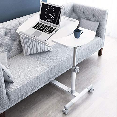 In hoogte verstelbaar tillen Laptop Computer bureau Computer tafel Auto tafel Luie salontafel Kantelen met wielen Eenvoudig te monteren Sofa nachtkastje Koffietafel Studie tafel met anti-slip strip-H
