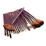 Brocha Maquillaje 18 PCS Conjunto de cepillos de maquillaje con herramientas de belleza en forma de ventilador Cosmético Polvo de ojo sombra Fundación Fundación Maquillaje Cepillo Set Brochas Maquilla