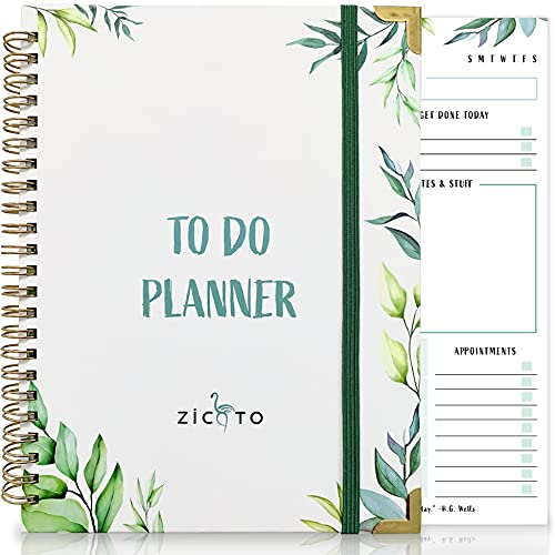 Simplified Greenery To Do List Notebook - Beautiful...