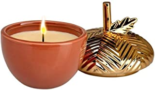Gilded Acorn Pumpkin Souffle Candle, Natural Soy Relaxing Scented Candles for Home Decor and Stress Relief