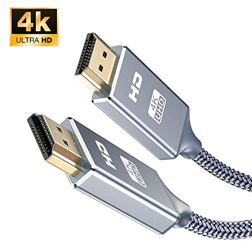 4K HDMI Kabel 1M,Snowkids HDMI 2.0 Kabel Ultra HD 4k 60Hz Nylon Geflecht Vergoldete, HighSpeed 18Gbps Kompatibel mit Video 4K UHD 2160p, HD 1080p, 3D Xbox PS4