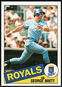 1985 Topps Baseball #100 George Brett Kansas City Royals Official MLB Trading Card (stock photos used) Near Mint or better condition