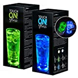 touchON!glass Creano Ausgefallenes Trinkglas/Longdrinkglas touchON!glass, Leuchtglas mit...