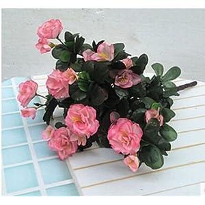 Artificial Flowers Yiting Single False Flower Embossed Flower Plastic Decorative Flower Silk Flower, Rhododendron Flower Pink