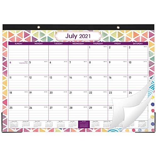 "2021-2022 Desk Calendar - 18 Monthly Desk/Wall Calendar, 17"" x 12"", Jul 2021-Dec 2022, Large Monthly Desk Calendar, Large Ruled Blocks, Tear Off, Best Desk Calendar for Planning and Organizing"
