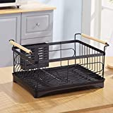 Kitchen shelf Rack Cucina Posate Rack Lavelli Inox Scarico Rack Storage Cucina Black-1