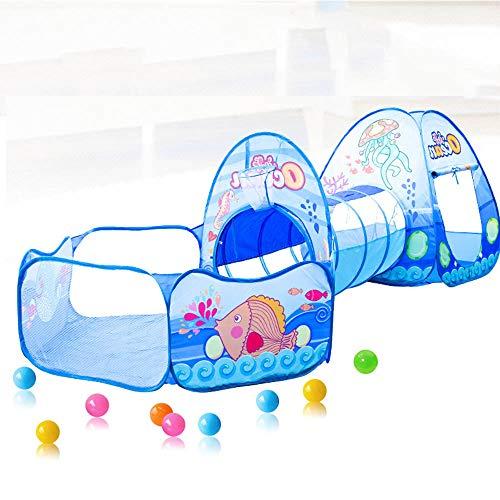 VAER Tienda de Juegos para niños, Tienda de Juegos para niños bebés y niños pequeños para Interiores y Exteriores Casa de Juegos para niños, Bolsa de Almacenamiento, Piscina de Bolas,Color1