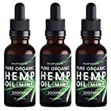 (3 Pack) Hemp Oil 5000mg - Pure Organic Extract, Helps Reduce Stress and Tension, Maintain Joint Health, Flexibility, Sleep Well, Support Immune System- Vegan Friendly, Made in USA