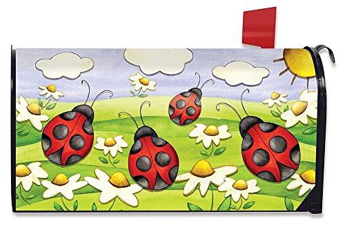 XJ-JX Springtime Marienkäfer-Briefkastenabdeckung, groß, magnetisch, Gänseblümchen-Motiv, übergroß