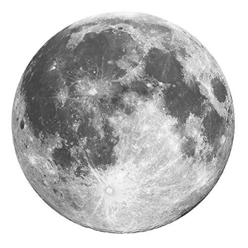 Creative Tapis Ronds Salon Moon Etude Table Basse Tapis De Chambre Chambre Tapis De Chevet Décor À La Maison Lavable,Gray,160X160CM