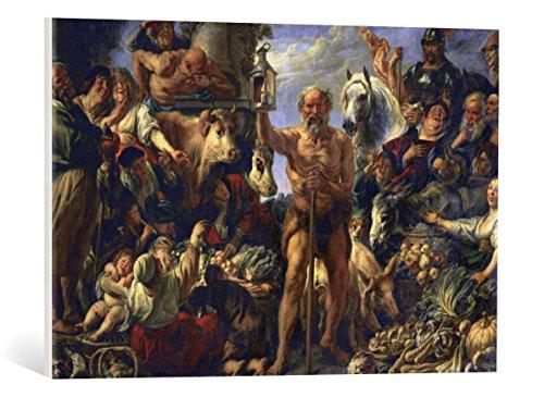 Kunst für Alle Cuadro en Lienzo: Jacob Jordaens Diogenes with The Lamp Seeking Men in The Markets - Impresión artística, Lienzo en Bastidor, 75x50 cm