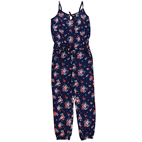 Boboli Boboli Mädchen Viscose Jumpsuit for Girl Latzhosen, Blau (Print 9450), 104 (Herstellergröße: 4)