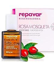 Repavar Regeneradora - Aceite 100% Puro Rosa Mosqueta R. rubiginosa, Alta Capacidad Regeneradora, Repara Profundamente Cicatrices, Quemaduras y Estrías, Con 2 Aplicadores Roll On y Cuentagotas -15 ml