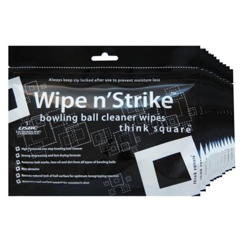 3x Bowlingball Reiniger Wipe n´Strike Reinigungstücher