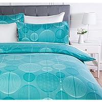 AmazonBasics - Juego de ropa de cama con funda de edredón, de microfibra, 230 x 220 cm,   Cerceta industrial (Industrial Teal)