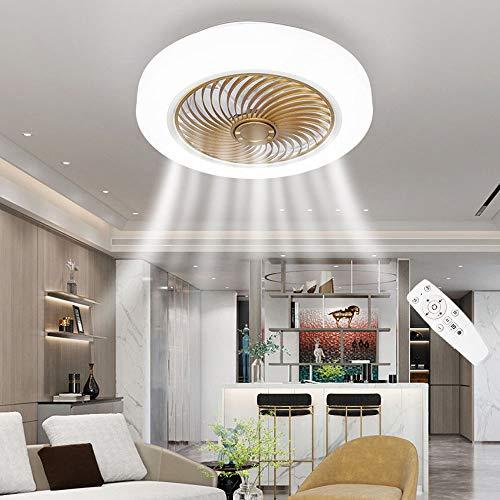 chicstyleme LED stufenlos dimmbares Deckenventilatorlicht Lautloses Lüfterlicht 3 Windgeschwindigkeit Kamin Raumlüfter Schalten Sie den Abluftventilator regelmäßig für 2 Stunden aus