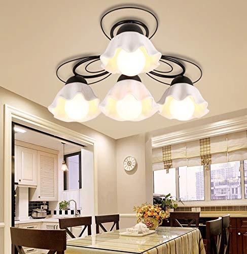 FGAITH lamp van keramiek, voor slaapkamer, eenvoudig, plafondlamp van smeedijzer, hall restaurant, creatief, voor kleding, woonkamer, lamp