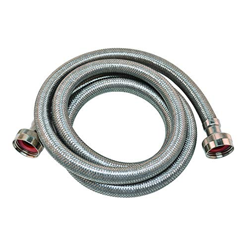 Eastman 48640 Stainless Steel Washing Machine Hose, 10'