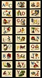 Moda Alphabet-Panel im Vintage-Stil, ABC-Paneel, MODA32,