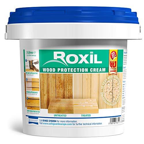 roxil madera protección crema–10año impermeabilización para madera blanda láminas–3litros