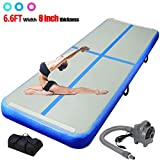 ChampionPlus 10ft 13ft 16ft 20ft Air Track Tumbling Mat Inflatable Gymnastics Mat 4/8 inches Thickness Airtrack Tumbling Mats for Home Training Cheerleading Yoga with Air Pump Blue 13'x3.3'x4'' -  CHAMPIONSPORTS