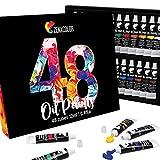 48 Tubos de Pinturas al Oleo Zenacolor - Set de 48 x 12 mL - Pintura de Calidad Profesional - Caja Única de 48 Colores Diferentes - Ideal para Niños o Adultos