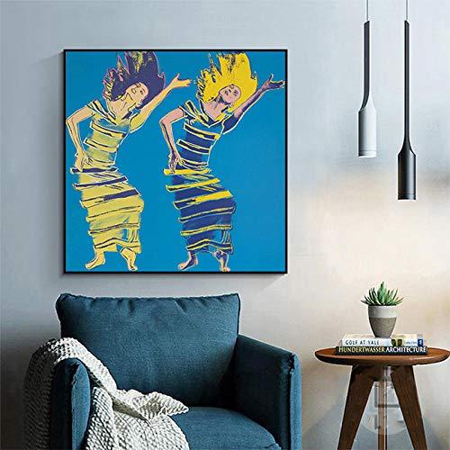 Posters Art Dancing Girl De Andy Warhol Peintures sur Toile, Affiches d'art Abstrait Et Estampes, pour Salon Décor No Frame 50X50Cm