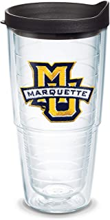 Tervis Marquette Golden Eagles Logo Tumbler with Emblem and Black Lid 24oz, Clear