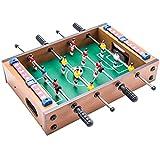 ZDNB Juego de futbolín de fútbol de Mesa de Lujo para niños/Adultos/Familia Retro clásico Juego de futbolín Ligero, pequeño, Estilo uno