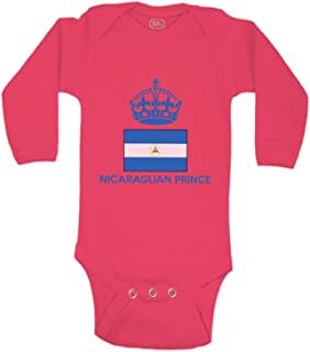 Cute Rascals Baby Long Sleeve Bodysuit Nicaraguan Prince Crown Countries Boy & Girl Clothes