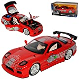 Mazda RX7 Dom´s Dominik Toretto Rot 1991-2002 Fast & Furious 8 The Fast and The Furious 1/24 Jada Modell Auto -