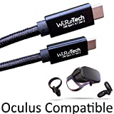 WiRoTech USB C 3.1 Gen2 SuperSpeed 10Gbps E-Marker chip Fastest Charging USB Cable, Oculus Quest Link Compatible (Black, 10 Feet)