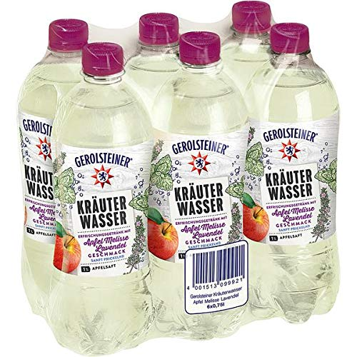 12 Flaschen Gerolsteiner Kräuterwasser Apfel-Melisse-Lavendel PET inc. 3,00€ EINWEG Flasche