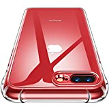 CANSHN iPhone 8 Plus Case Clear iPhone 7 Plus/ 8 Plus Case with Shock Absorption Technology Bumper Protective Case for iPhone 7 Plus (2016)/iPhone 8 Plus (2017) - Clear