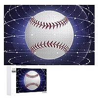 野球スペース Baseball Space 1000個の 木製ピース ジグソーパズル ワンピース (50x75cm) ジグソーピース 立体パズル 木製ジグソーパズル 学習玩具 木のおもちゃ 子供 の おもちゃ 積み木 木のパズル