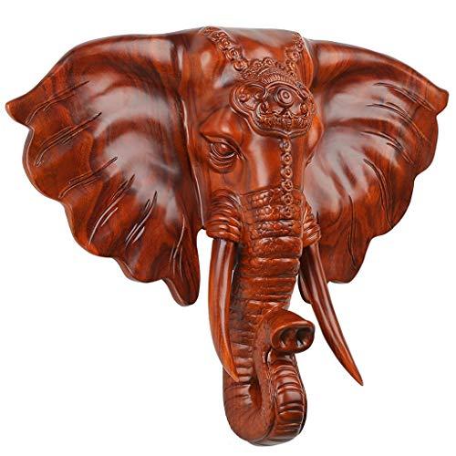 CWT Cabeza de Elefante Decoraciones de Pared Colgadores de Pared Sala de Estar Pórchido Fondo de Pared Decoración 3D